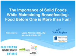 Introducing Solid Foods Presentation
