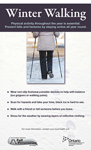 Winter Walking Poster