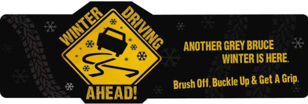 Winter Driving Ahead Banner